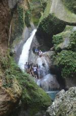 Haiti 2015: Waterfall jumping at Jacmel