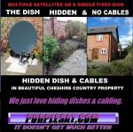 HIDDEN SATELLITE DISH & WIRING FROM PURPLESAT
