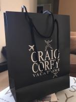 Craig Corey Vacations signature shopping bag