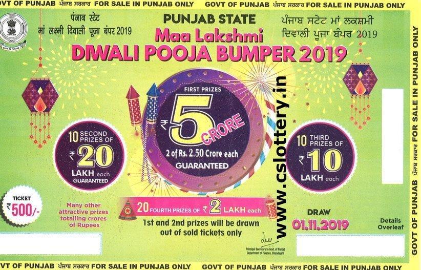 Online Punjab State Bumper Lottery Sawan bumper lottery