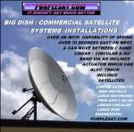 LARGE MOTORISED SATELLITE DISH INSTALLATIONS FROM PURPLESAT