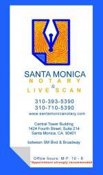 Santa Monica Notary Live Scan