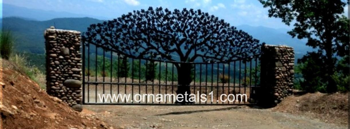 custom entry gates driveway gates metal sculpture